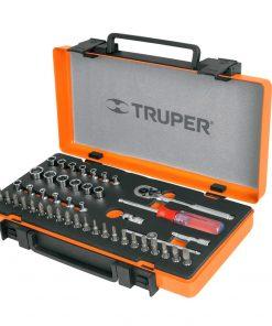 Juego Truper 45 Tubos Enc 1/4+ Puntas Torx Allen Phillips